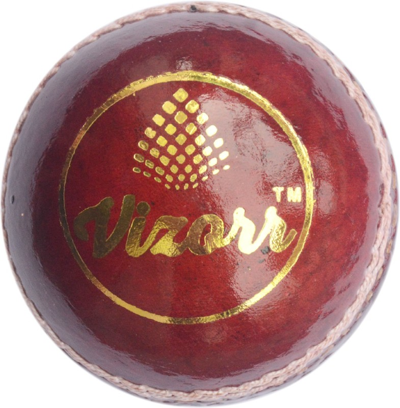 Vizorr Pack of 1 Two Piece Leather Ball Cricket Leather Ball(Pack of 1, Red)