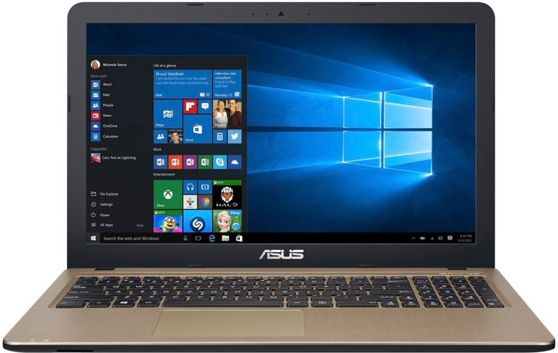 Asus APU Dual Core A6 - (4 GB/1 TB HDD/Windows 10 Home) X540BA-GQ119T Laptop(15.6 inch, Black, 2 kg)