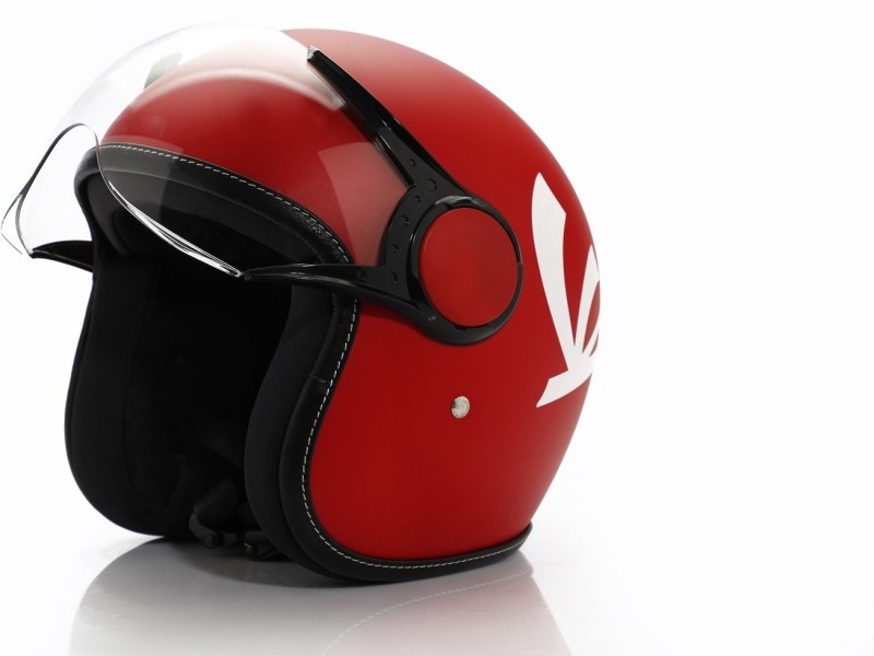 Vespa Colour Helmet Red Motorbike Helmet(Red)