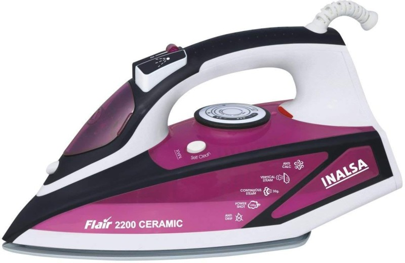 Inalsa Flair 2200 W Steam Iron(Purple, White)