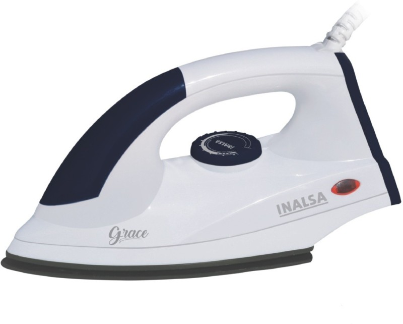 Inalsa Electric Iron Grace 1200W Dry Iron(White)