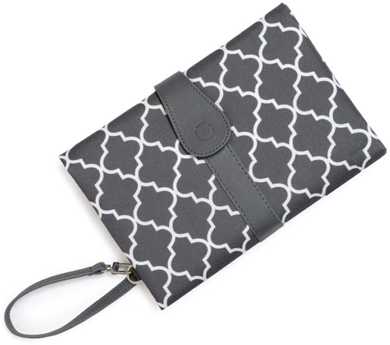 Desi Rang Polyester Diaper Changing Mat(Grey, Large)