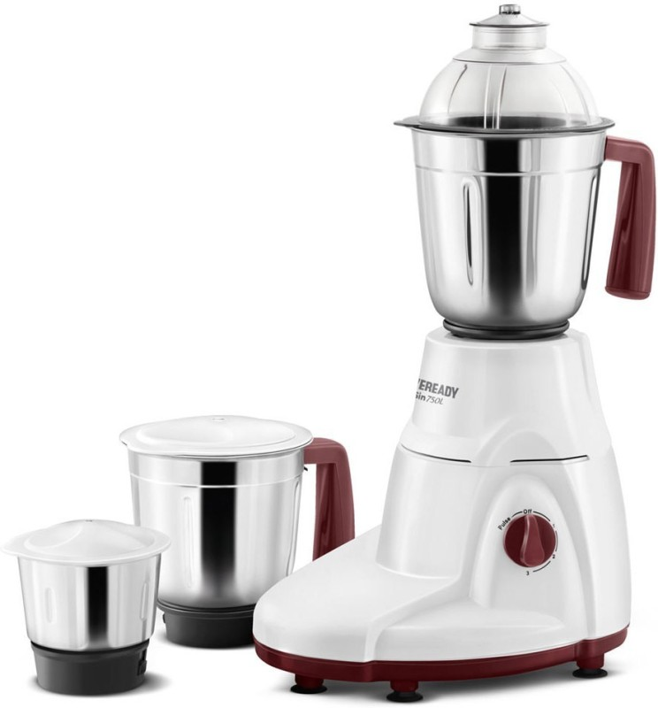 Eveready SIN750L 230 W Mixer Grinder(White, 3 Jars)
