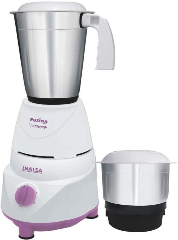 Inalsa NA MG Fusion 2 Jar 550 Mixer Grinder(Purple, White, 2 Jars)
