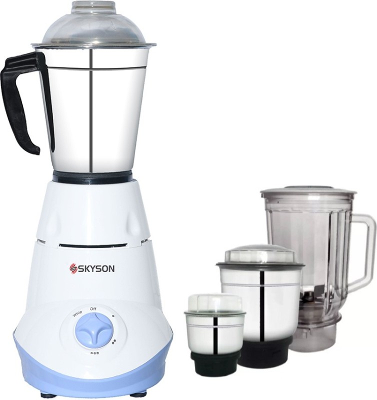 SKYSON JUICY 4 POWERFUL COPPER MOTOR 4 JAR 650 W MIXER GRINDER 650 Mixer Grinder(White, 4 Jars)