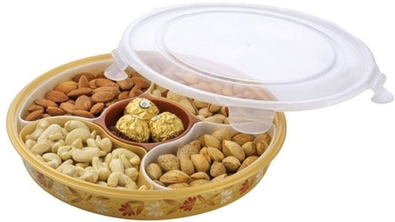 Joyo Super Handy & Edgy Multi Utility Dry Fruit/Snacks/ Namkeen/Biscuits Side Lock Container Box for A Stylish Tableware or Kitchen/Best Diwali Gift Tray Set