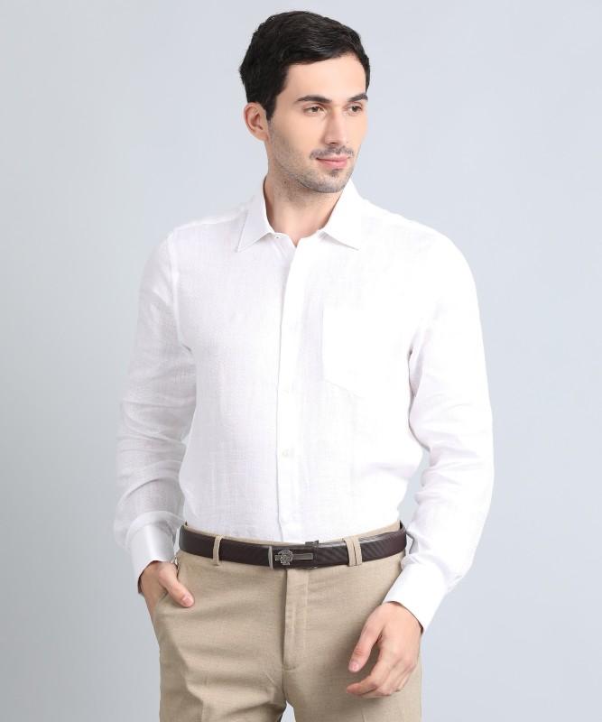 Blackberrys Men Solid Formal White Shirt