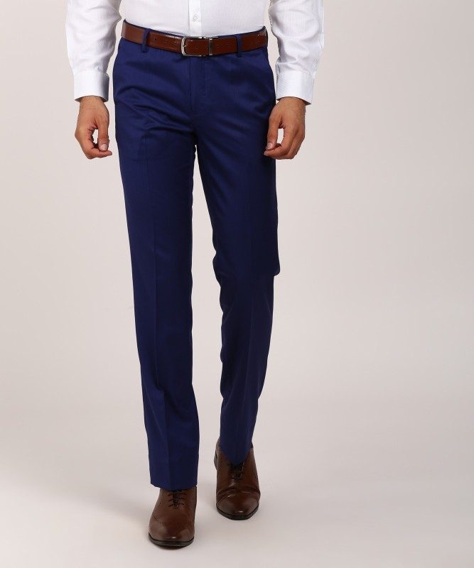 Only Vimal Slim Fit Men's Blue Trousers
