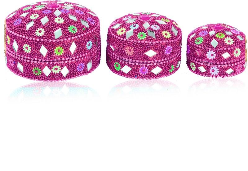 SAMAA RING-BOX-PINK-COMBO-001 RING BOX, GIFT PACK Vanity Box(Pink)