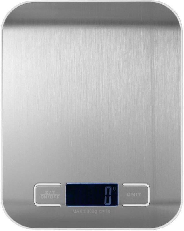EASELIFE Stainless Steel Digital Kitchen Scale Multi Function Food Scale, 5 Kg 11 Lb, Silver Weighing Scale(Multicolor)