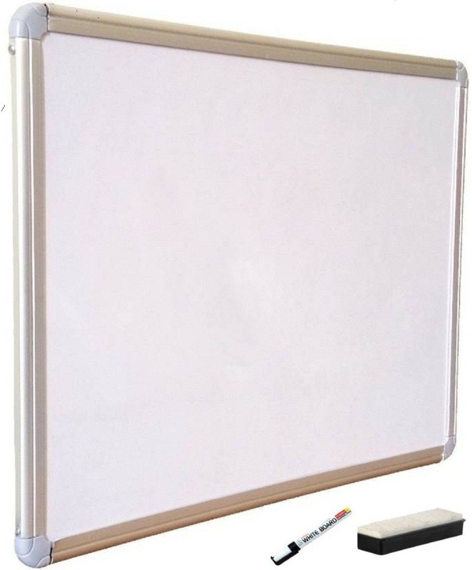 MP MART Non Magnetic Non magnetic Melamine Medium Whiteboards and Duster Combos(Set of 1, White)