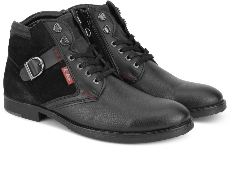 Lee Cooper LC2328 Casual Boots For Men(Black)