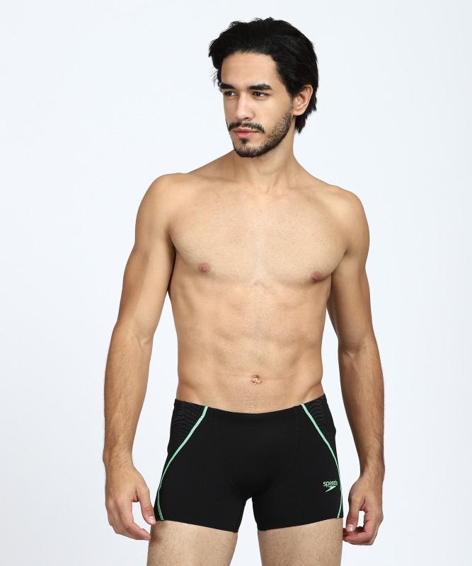 Speedo Solid Men's Black Swim Shorts