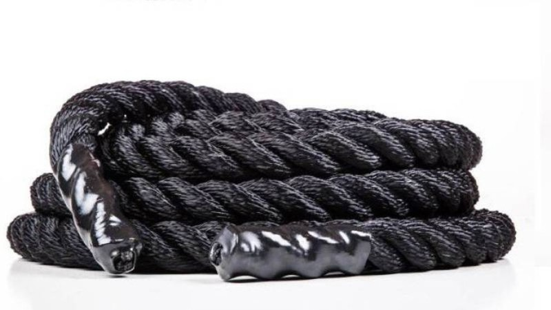 Fosco Premium (4 inch-6 Mtr/20 Ft) Gym Exercise Muscle Battle Rope - Black Battle Rope(Length: 20 ft, Weight: 4 kg, Thickness: 4 inch)