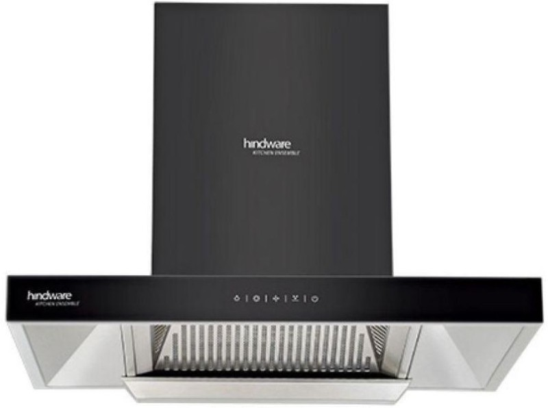 Hindware Alicia Auto Clean Wall and Ceiling Mounted Chimney(black 1200 CMH)