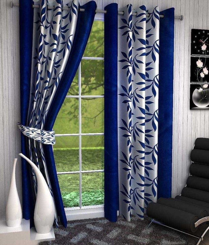check MRP of navy blue curtains Rehaan 7 Star