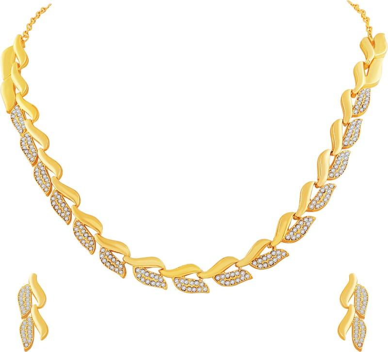 MJ Fashion Jewellery Brass Jewel Set(Gold)