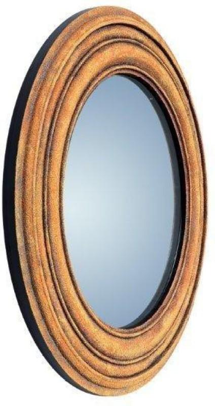 PANASH ART MIR-SD-BF-06 Decorative Mirror(Round Finish : Sand Art Work)
