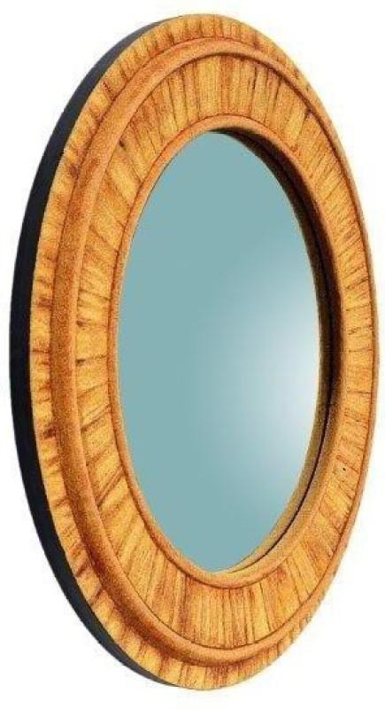 PANASH ART MIR-SD-BF-03 Decorative Mirror(Round Finish : Sand Art Work)