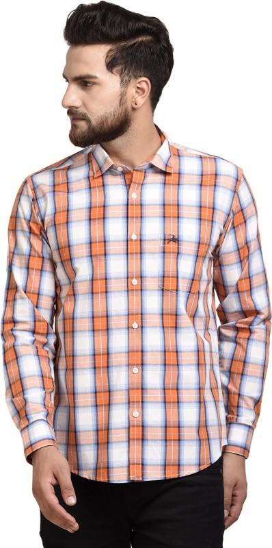 WESTLAND'S COWBOY Men's Printed Casual Orange Shirt