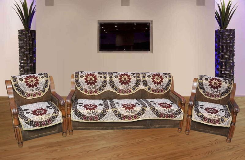 PHome Decor Cotton Sofa Cover(Multicolor Pack of 6)