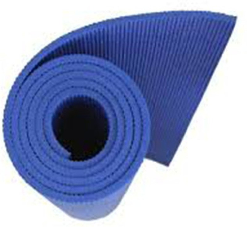 INDOSON 4MM 100% Eco Friendly Mat blue 4mm Yoga, Exercise & Gym Mat Blue 4 mm Yoga Mat
