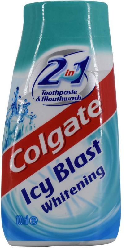 Colgate Icy Blast Whitening 2in1 Toothpaste & Mouthwash - 100ml Toothpaste(100 g)