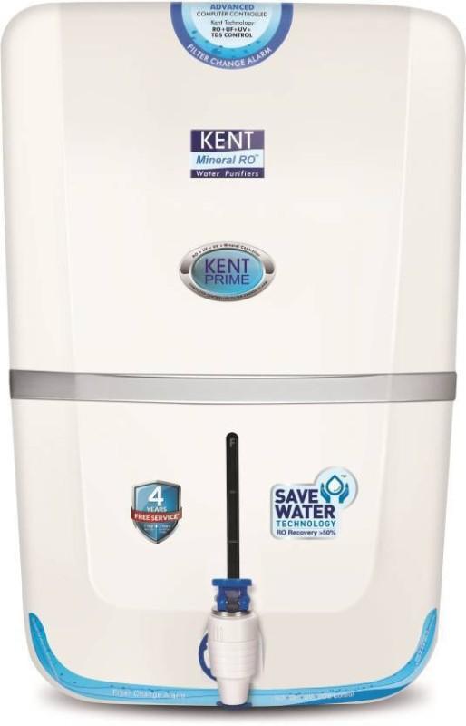 Kent PRIME PLUS 9 L RO + UV + UF + TDS Water Purifier(White)