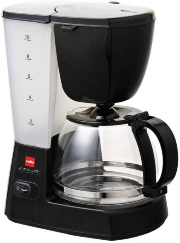 Cello Infusio 200 10 Coffee Maker(Black, White)