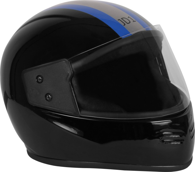 JMD JD 1 BLACK-BLUE-SILVER L-SIZE FULL FACE Motorbike Helmet(Black)