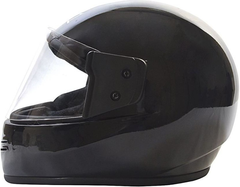 JMD JD1 BLACK PLAIN FULL FACE L-SIZE Motorbike Helmet(GLOSSY BLACK)