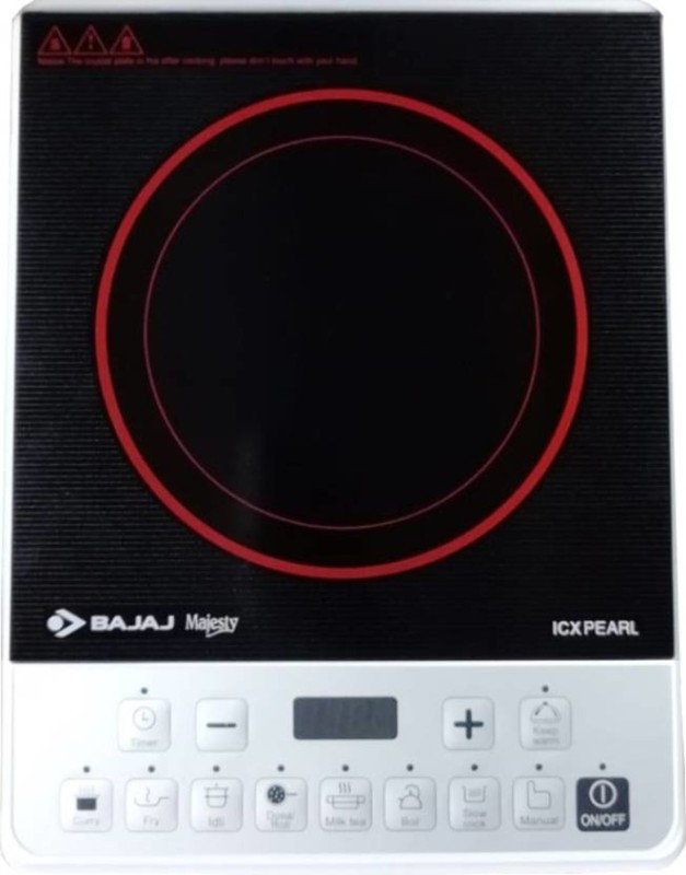 Bajaj Majesty ICX Neo Induction Cooktop(Black, Touch Panel)
