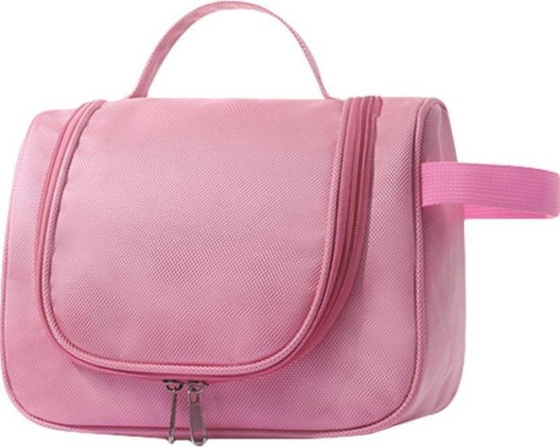 Swadec Multipurpose Makeup Bag Travel Toiletry Kit(Pink)