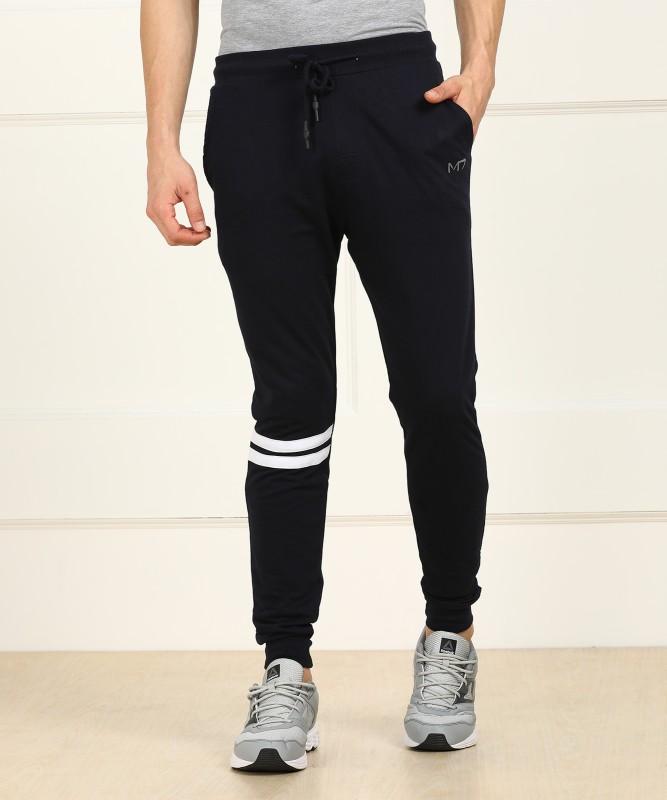 Metronaut Athleisure Regular Fit Men's Cotton Dark Blue Trousers