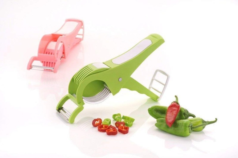 Manoj Sunlight Plastic Round Vegetable Chopper(Set of 2 Vegetable Cutter/Chopper)