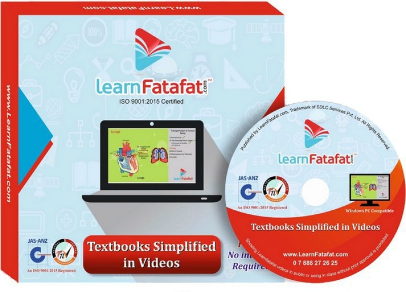 LearnFatafat CBSE Class 10 Science, Maths, SST Full Video Course DVD - 2 Yrs Validity(DVD)