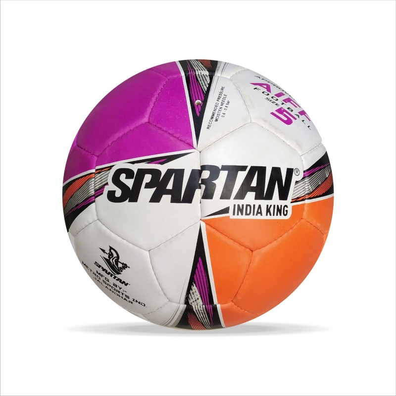 Spartan India King A.I.F.F.Approved Football - Size: 5(Pack of 1, Black, White, Purple, Orange)