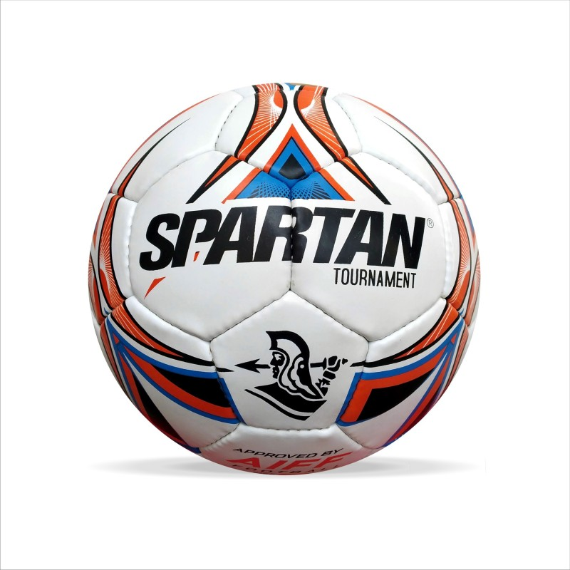 Spartan TOURNAMENT Football - Size: 5(Pack of 1, White, Blue, Orange)