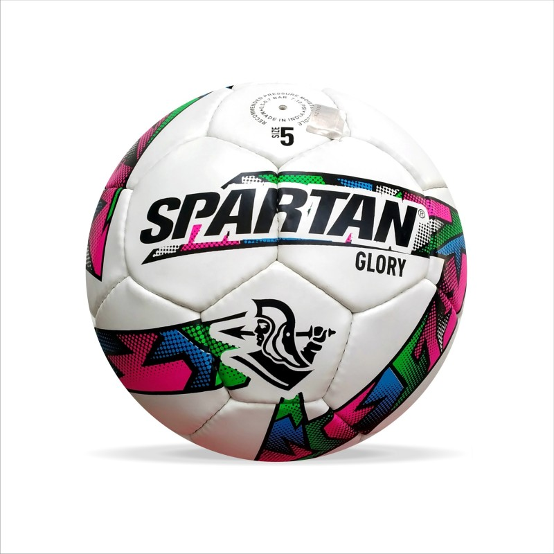 Spartan GLORY Football - Size: 5(Pack of 1, White, Blue, Green, Pink)