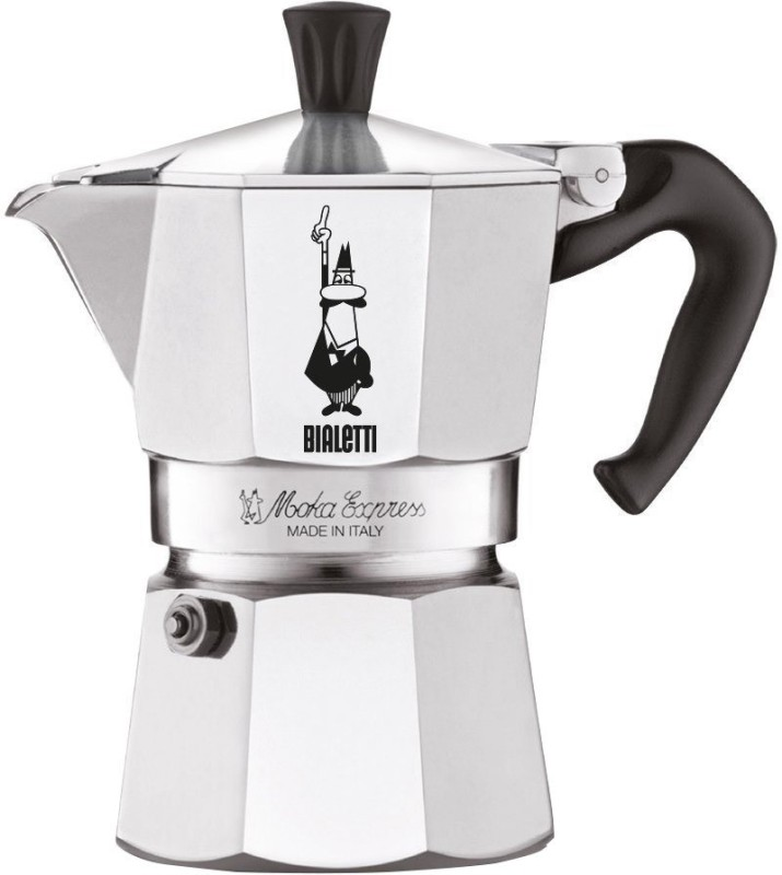 Bialetti 6799 3 Cups Coffee Maker(Silver)