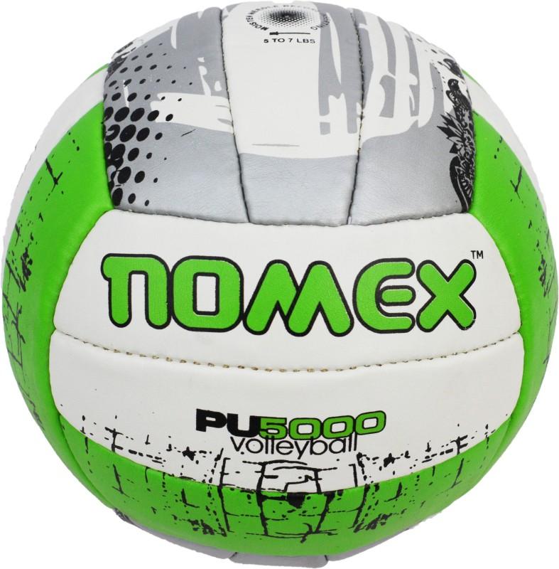 Nomex PU-5000 Premium Imported 18 Panel Size 4 Multicolor Volleyball Volley Ball Volleyball - Size: 5(Pack of 1, Green)