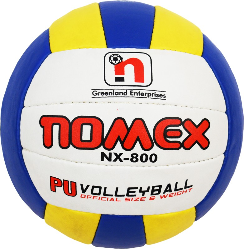 Nomex NX-800 Premium Imported 18 Panel Size 4 Multicolor Volleyball Volley Ball Volleyball - Size: 5(Pack of 1, Blue)