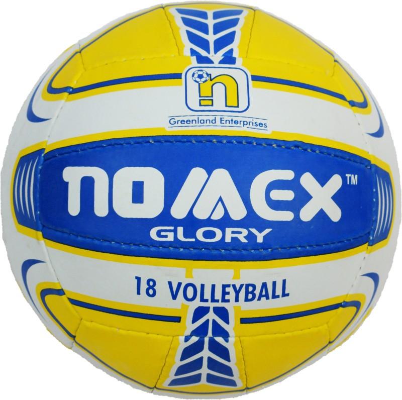 Nomex Glory Premium Imported 18 Panel Size 4 Multicolor Volleyball Volley Ball Volleyball - Size: 5(Pack of 1, Yellow)