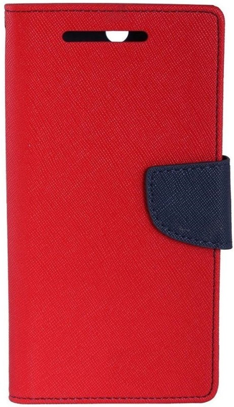 SAMARA Flip Cover for SAMSUNG GALAXY A7 2017 (SM-A720F/DS)(Red, Dual Protection)