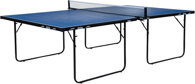 Stag Family Stationary Indoor Table Tennis Table(Blue, Blue)