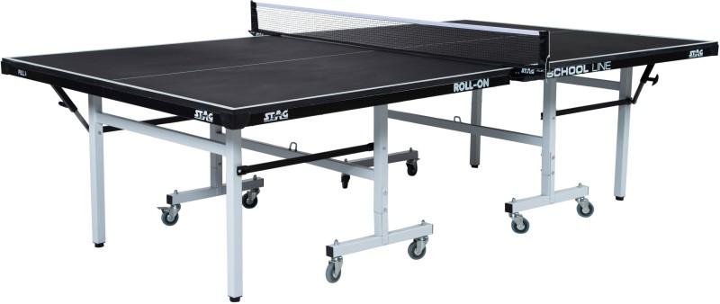 Stag School Line Black Top Rollaway Indoor Table Tennis Table(Black)