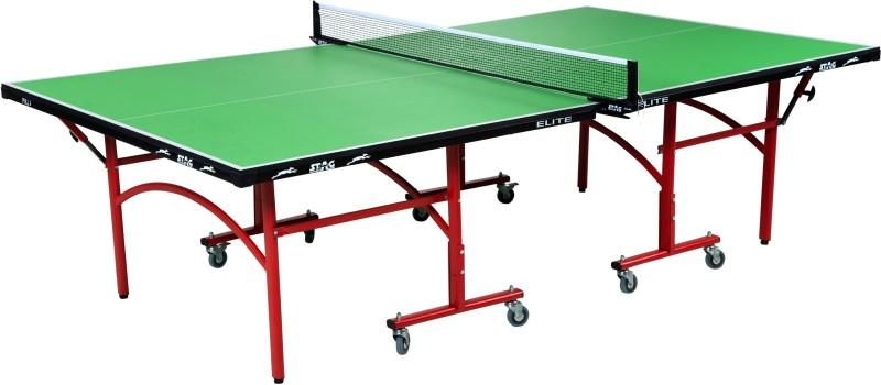 Stag Elite Green Top Rollaway Indoor Table Tennis Table(Green)