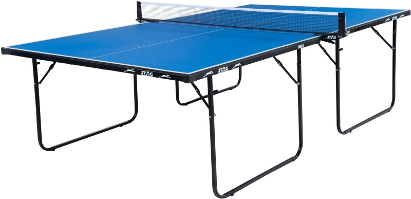 Stag Family Weatherproof Outdoor Stationary Outdoor Table Tennis Table(Blue)