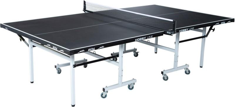 Stag Hobby Line Black Top Rollaway Indoor Table Tennis Table(Black)