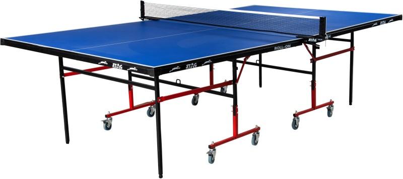 Stag Sleek Rollaway Indoor Table Tennis Table(Blue, Red)